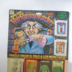 Jouets Anciens et Jeux de collection: HAIR RASING MONSTERS MARCA CHICOS AÑO 1986 , BLISTER CERRADO. Lote 273643773