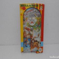 Juguetes antiguos y Juegos de colección: BILLARIN JUEGOS OLIMPICOS PÌQUE, CONSERVA CASI TODA LA CAJA ORIGINAL, AÑOS 70. Lote 275214353