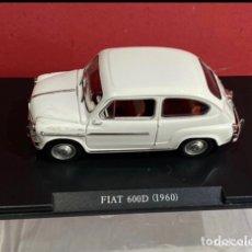 Jouets Anciens et Jeux de collection: COCHE FIAT 600 D 1960 ESCALA 1/24-1:24 LEO MODELS FIAT METAL MODEL CAR. Lote 275634368