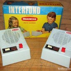 Juguetes antiguos y Juegos de colección: ANTIGUO INTERFONO, DE BIANCHI - NUEVO Y EN SU CAJA ORIGINAL - AÑOS 70. Lote 277044958