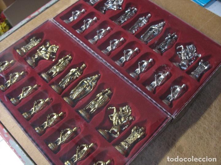 Juguetes antiguos y Juegos de colección: ajedrez metalico sin uso - Foto 5 - 277465343