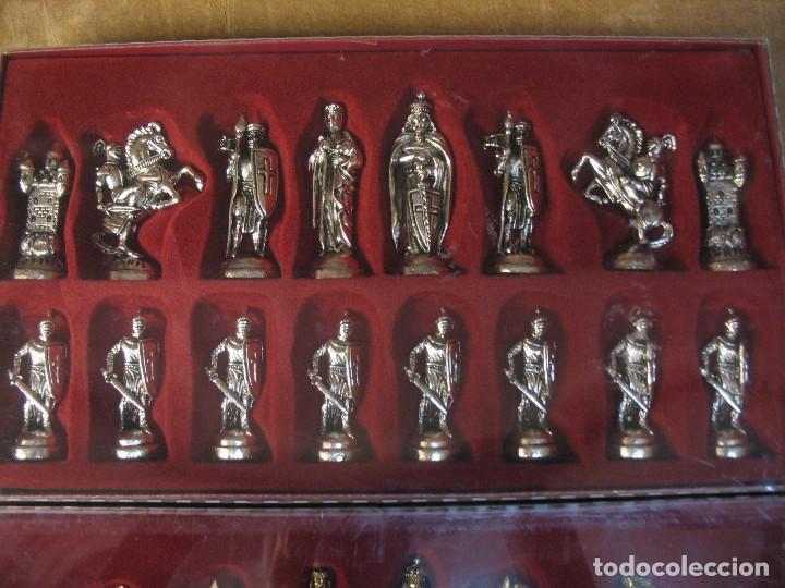 Juguetes antiguos y Juegos de colección: ajedrez metalico sin uso - Foto 6 - 277465343