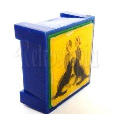 Juguetes antiguos y Juegos de colección: SACAPUNTAS AFILAPUNTAS AFILALÁPICES DE PLÁSTICO CON HOLOGRAMA. FOCAS CON PELOTA CIRCO. AÑOS 60. Lote 285684408