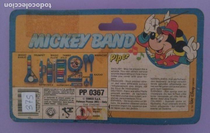 Juguetes antiguos y Juegos de colección: MICKEY BAND - PIPER - WALT DISNEY - BONTEMPI - ITALIA - Foto 3 - 287210663