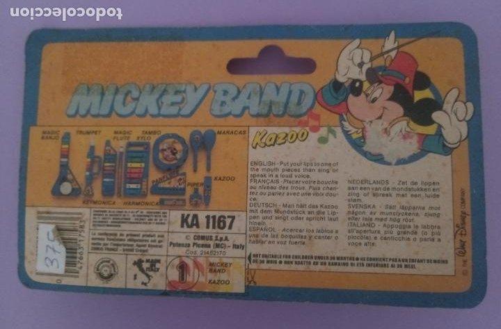 Juguetes antiguos y Juegos de colección: MICKEY BAND - KAZOO - WALT DISNEY - BONTEMPI - ITALIA - Foto 2 - 287210873