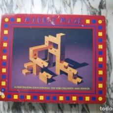 Juguetes antiguos y Juegos de colección: MARBLE MAZE - LAGOON GAMES - JUGUETE EDUCATIVO DE MADERA - INGLATERRA. Lote 287605053
