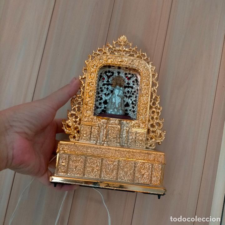 Juguetes antiguos y Juegos de colección: ANTIGUA GRAN TAMAÑO CAPILLA DE LUZ PLASTICO CON VIRGEN DE LOS DESAMPARADOS DE VALENCIA - 21,5 x 15cm - Foto 14 - 288563053