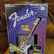 Juguetes antiguos y Juegos de colección: FENDER STRATOCASTER. TOY GUITAR, AMPLIFIC. RIFF JAMMER.FENDER 1996. NUEVO, SIN USO. Lote 288703083