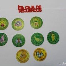 Giocattoli antichi e Giochi di collezione: 9 TAZOS POKEMON - 2000 NINTENDO TAZO 2. Lote 289327988
