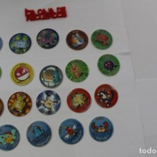 Giocattoli antichi e Giochi di collezione: 19 TAZOS POKEMON -1995,1996,1998 NINTENDO TAZO. Lote 289340103