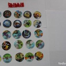 Giocattoli antichi e Giochi di collezione: 25 TAZOS POKEMON -2002 NINTENDO TAZOS LEAGUE. Lote 289340463