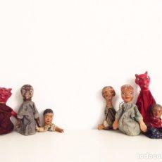 Juguetes antiguos y Juegos de colección: LOTE DE TÍTERES DE CUENTOS POPULARES CON HUMANOS Y DEMONIOS. VER FOTOS.. Lote 289677193