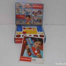 Juguetes antiguos y Juegos de colección: JUEGO DE PIEZAS DE CONSTRUCCIONES PLASTICANT, CAJA ORIGINAL, INSTRUCCIONES, COMPLETO. Lote 292292758