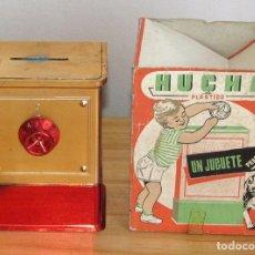 Juguetes antiguos y Juegos de colección: ANTIGUA HUCHA CAJA FUERTE DE VILPA - ABERTURA CON COMBINACION - AÑOS 70 - PLASTICO METALIZADO. Lote 293615918