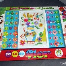 Juguetes antiguos y Juegos de colección: COLORIN FLOR, LAS FLORES DE MI JARDÍN, DE JUGUETES PIQUÉ - AÑOS 70 - NUEVO A ESTRENAR. Lote 294057748