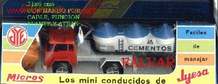 CAMION TRAILER CEMENTO JYESA AÑOS 70 A ESTRENAR (Juguetes - Marcas Clásicas - Jyesa)