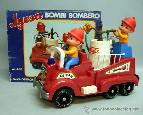 CAMIÓN BOMBEROS BOMBI BOMBERO JYESA AÑOS 70 (Juguetes - Marcas Clásicas - Jyesa)