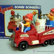 Juguetes antiguos Jyesa: CAMIÓN BOMBEROS BOMBI BOMBERO JYESA AÑOS 70. Lote 69058247