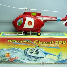 Juguetes antiguos Jyesa: HELICOPTERO CHACAL 500 JYESA BOMBEROS AÑOS 70 NUEVO EN SU CAJA. Lote 25447432