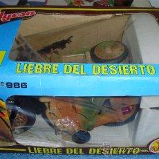 Juguetes antiguos Jyesa: - LIEBRE DEL DESIERTO DE JYESA MOTO CON SIDECAR MANDO DE CABLE EN SU CAJA A ESTRENAR. Lote 34865364