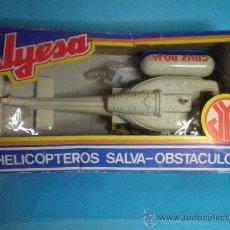 Juguetes antiguos Jyesa: HELICOPTERO SALVA OBSTACULOS CRUZ ROJA DE JYESA - NUEVO. Lote 35575603