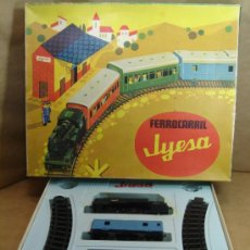 Juguetes antiguos Jyesa: TREN FERROCARRIL CUERDA RESORTE - JYESA REF 1401 - MADE IN SPAIN 70S . Lote 36527184