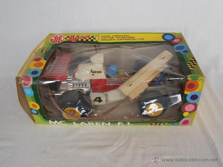 Juguetes antiguos Jyesa: COCHE CABLEDIRIGIDO FORMULA 1 JYESA TEXACO MARLBORO CAJA ORIGINAL FUNCIONA - Foto 15 - 44778461