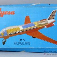 Juguetes antiguos Jyesa: AVIÓN JUMBO BC 747 JYESA CON CAJA AÑOS 70 FUNCIONA. Lote 46253514
