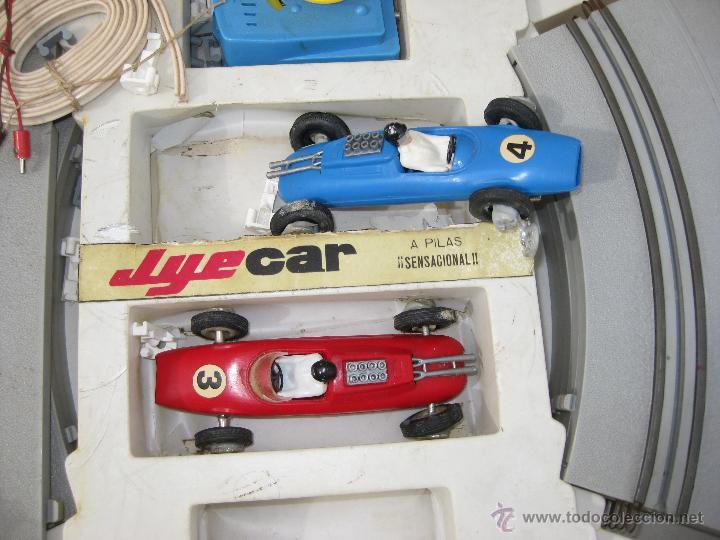 Juguetes antiguos Jyesa: SCALEXTRIC ANTIGUO JYESA JYE CAR CON COCHES BOLIDOS EPOCA EXIN AÑOS 60 - Foto 2 - 49136502