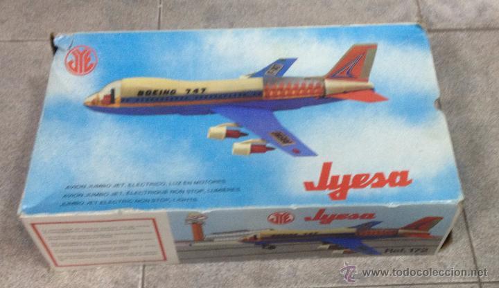 AVIÓN BOIENG 747. ELECTRONICO DE JYESA. AÑOS 80. CON CAJA. VER FOTOS (Juguetes - Marcas Clásicas - Jyesa)