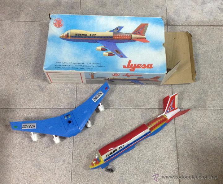 Juguetes antiguos Jyesa: AVIÓN BOIENG 747. ELECTRONICO DE JYESA. AÑOS 80. CON CAJA. VER FOTOS - Foto 2 - 53215429