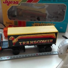 Juguetes antiguos Jyesa: TRAILER JYESA SERIE MICROS MADE IN SPAIN ELECTRICO CON MANDO. Lote 55374602