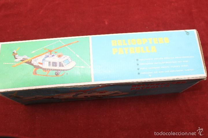 Juguetes antiguos Jyesa: HELICOPTERO PATRULLA, ELÉCTRICO SALVA OBSTÁCULOS DE JYESA, REF. 192 - Foto 7 - 61398015