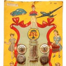 Juguetes antiguos Jyesa: BLISTER CARTÓN COCINA COCINITA CON CUBIERTOS Y CACHARROS DE HOJALATA DE JYESA (JYE) AÑOS 30 - 40. Lote 62675708