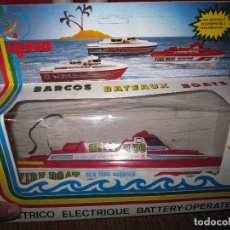 Juguetes antiguos Jyesa: BARCO JYESA FIRE BOAT. SPECIAL FIRE BOAT. NEW YORK HARBOUR. US MARITIME STATION [NUEVO EN CAJA]. Lote 176668647