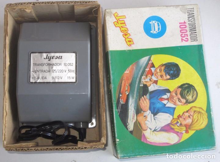 Juguetes antiguos Jyesa: jyesa transformador ref 10052 para pistas de coches con su caja - Foto 2 - 74317415