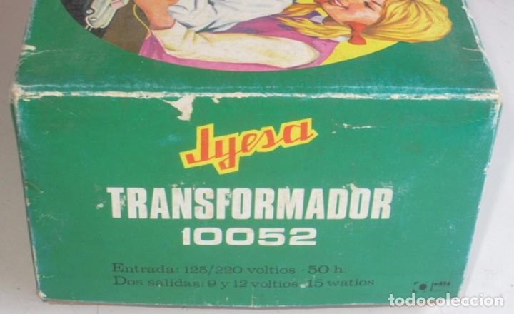 Juguetes antiguos Jyesa: jyesa transformador ref 10052 para pistas de coches con su caja - Foto 4 - 74317415
