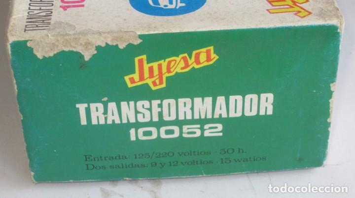 Juguetes antiguos Jyesa: jyesa transformador ref 10052 para pistas de coches con su caja - Foto 5 - 74317415