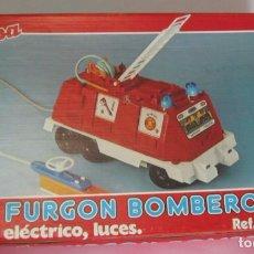 Juguetes antiguos Jyesa: FURGON DE BOMBEROS REF 358, DE JYESA, ELECTRICO, CON LUCES, EN CAJA. CC. Lote 99492095
