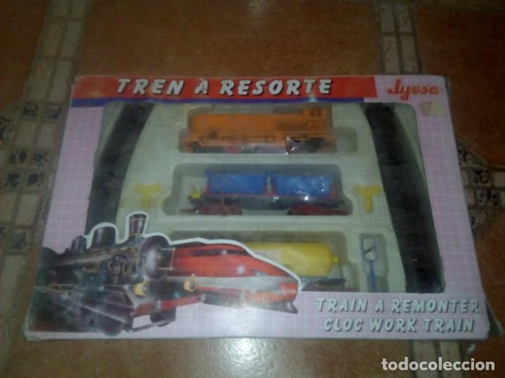 Juguetes antiguos Jyesa: Precioso tren en su caja - Foto 2 - 110638255