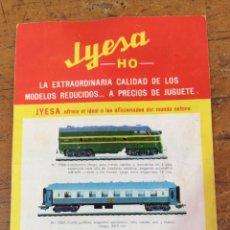 Juguetes antiguos Jyesa: JYESA, CATALOGO DE TRENES HO, AÑO 1965. Lote 121225875