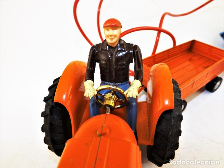 Juguetes antiguos Jyesa: Jyesa Tractor con remolque Años 60 - Foto 6 - 198352408