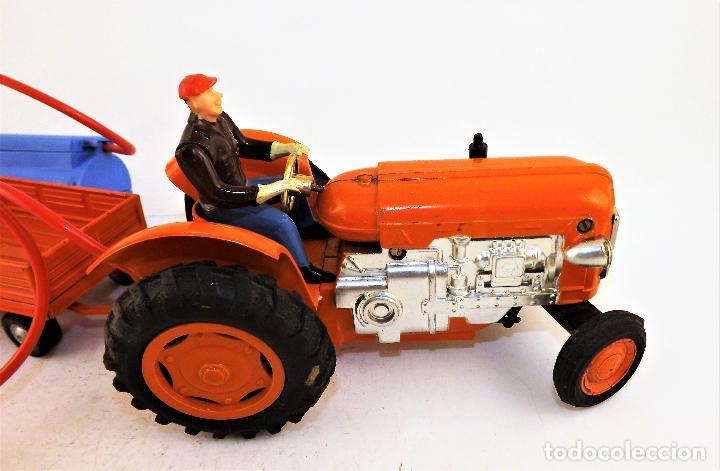 Juguetes antiguos Jyesa: Jyesa Tractor con remolque Años 60 - Foto 8 - 198352408