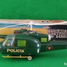 Juguetes antiguos Jyesa: HELICOPTERO DE POLICÍA DE JYESA REFERENCIA 172ELÉCTRICO Y CON LUCES FUNCIONANDO. Lote 122605195