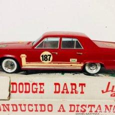 Juguetes antiguos Jyesa: DODGE BARREIROS DART DE JYESA AÑOS 60 CONDUCIDO A DISTANCIA EN CAJA ORIGINAL JYE N°427. Lote 145019824