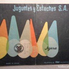 Juguetes antiguos Jyesa: CATALOGOS DE JYESA. FAROS ,LINTERNAS. Lote 151375550