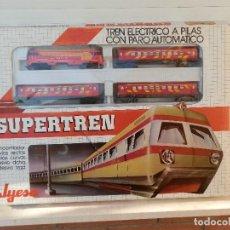 Juguetes antiguos Jyesa: SUPERTREN JYESA. ELÉCTRICO A PILAS CON PARO AUTOMÁTICO. LOGOTIPO RENFE. FUNCIONANDO.. Lote 151411746