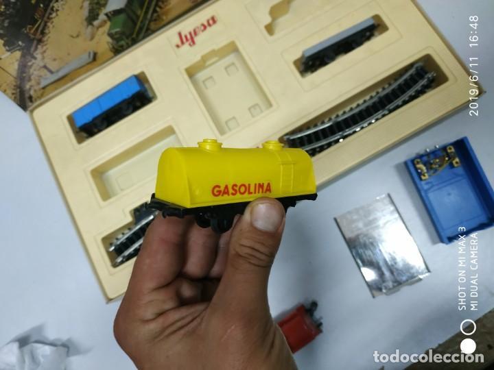 Juguetes antiguos Jyesa: juego de trenes jyesa H0 en caja nunca jugado perfecto estado de coleccion locomotora vias trenes - Foto 6 - 167887476