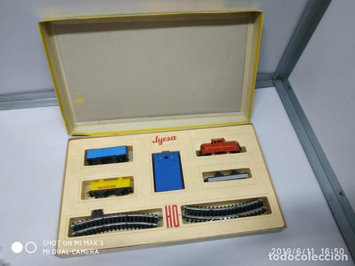 Juguetes antiguos Jyesa: juego de trenes jyesa H0 en caja nunca jugado perfecto estado de coleccion locomotora vias trenes - Foto 7 - 167887476