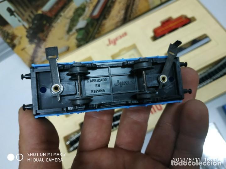 Juguetes antiguos Jyesa: juego de trenes jyesa H0 en caja nunca jugado perfecto estado de coleccion locomotora vias trenes - Foto 15 - 167887476